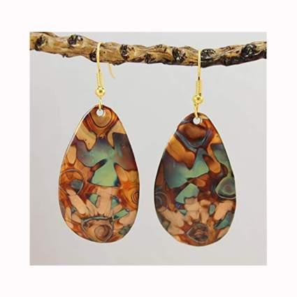 burnt copper oxidized earrings