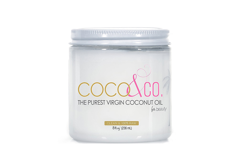 Image of clear jar of coconut oil