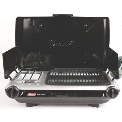 coleman, propane grill, camping, camping essentials
