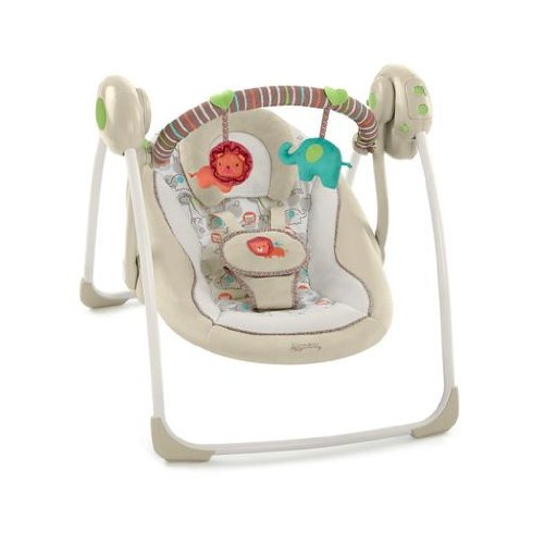 comfort & harmony cozy kingdom portable swing, best baby swing