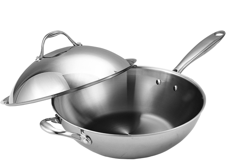 Cooks Standard Multi-Ply Clad Stainless-Steel 13-Inch Wok