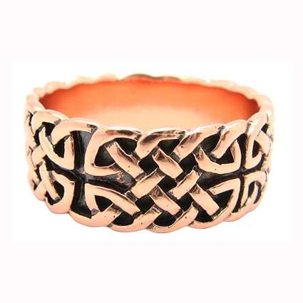 Solid copper celtic ring