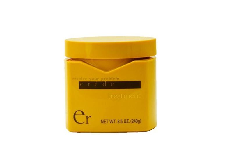 Image of yellow jar of hair mask