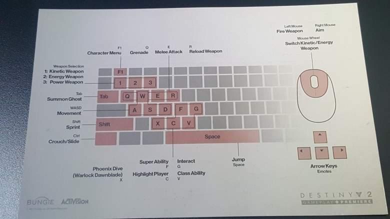 Destiny 2 PC Controls