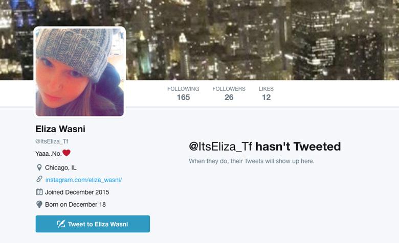 Eliza Wasni Twitter page