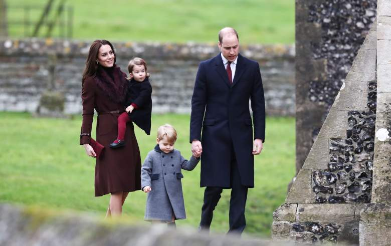 The royal family attend mass