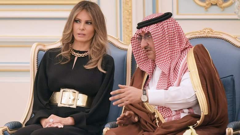 melania trump saudia arabia, melania trump pants suit, melania trump style, melania trump fashion