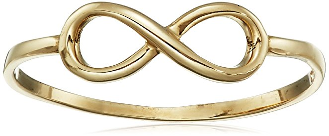 mother's day jewelry, mother's day ring, gold ring, infinity ring, gold infinity