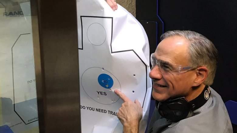 Greg Abbott guns, Greg Abbott shooting reporters, Texas gun laws
