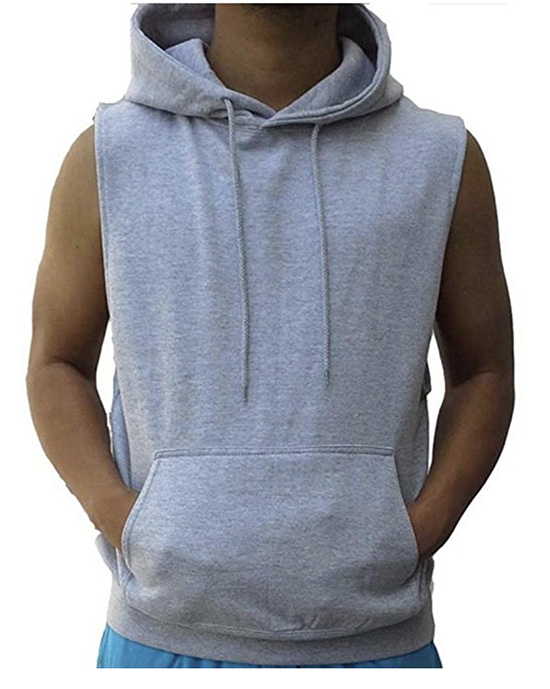 sleeveless hoodie, sleeveless sweatshirt