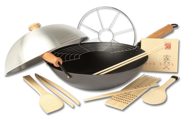 Joyce Chen 22-9938 Pro Chef 10 Piece Excalibur Non-Stick Wok Set