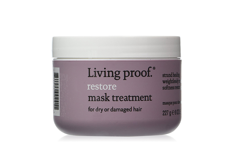 Image of purple jar of hair mask