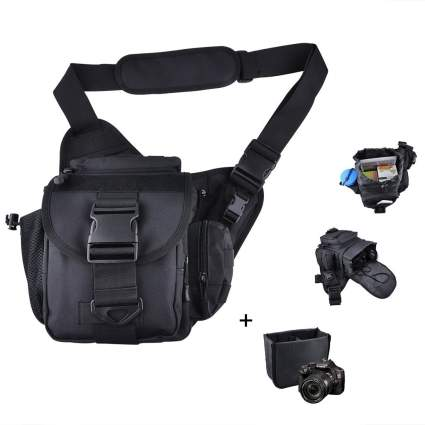 Qcute camera should bag, mirrorless camera bag, camera bag, camera backpack