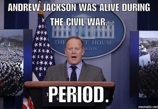 donald trump civil war memes, donald trump andrew jackson memes