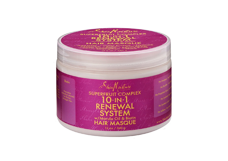 Image of bright pink jar of deep conditioner for hair