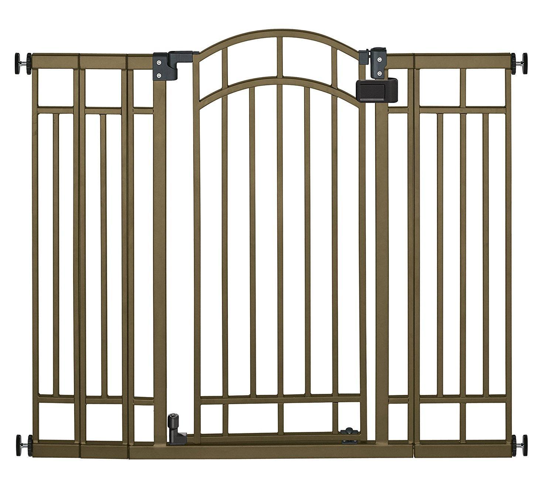 summer infant multi-use walk thru gate in bronze, best safety gates, safety gates, baby gates for stairs, best baby gates for stairs, metal safety gates