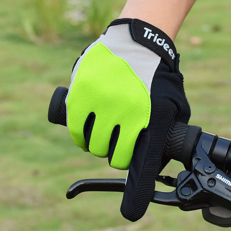 GloveGlu Gel Ride Half Finger Cycle Gloves Cycling Riding