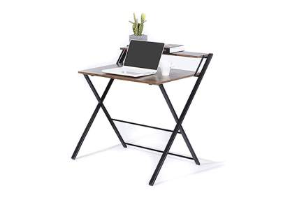 two tier folding desk