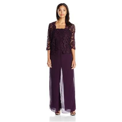 Emma Street Women's Lace Pant Suit Combo