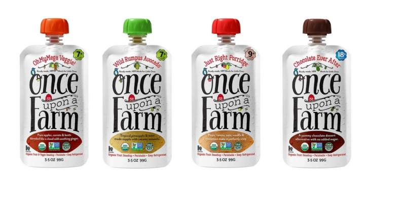 once upon a farm organic hpp pasteurized baby food puree pouches
