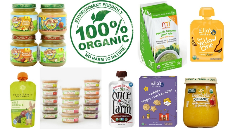 organic baby food, best organic toddler food, puree, pouches, sprout, nurturme, earths best, once upon a farm, ella's kitchen, plum, happy baby, peter rabbit
