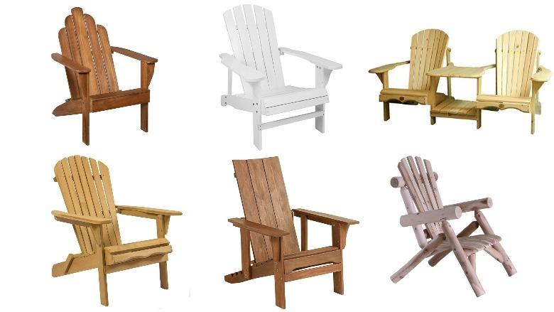 wooden adirondack chairs