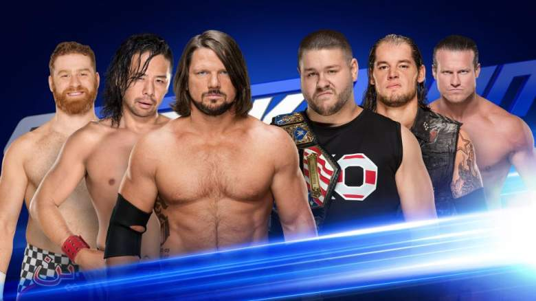 SmackDown Live, SmackDown Live tag team match, SmackDown Live six man tag team match