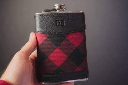 flask with monogram