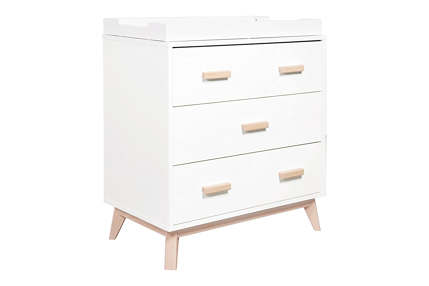babyletto scoot 3-drawer changing table, best changing tables with drawers, changing tables with drawers, modern changing table, mid century changing table, white changing tables, natural wood changing table, stylish changing table