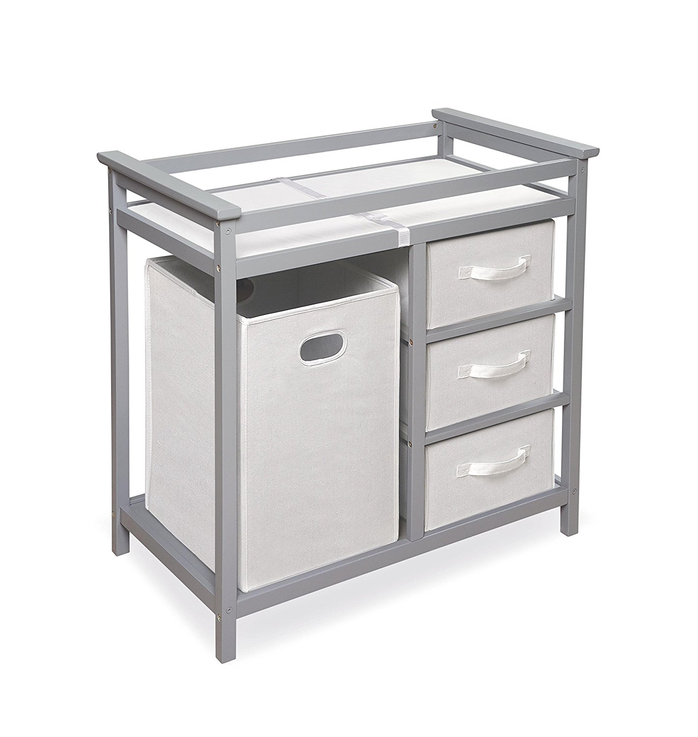 badger basket modern changing table, best changing tables with drawers, changing tables with drawers, modern changing table, gray changing table, stylish changing table