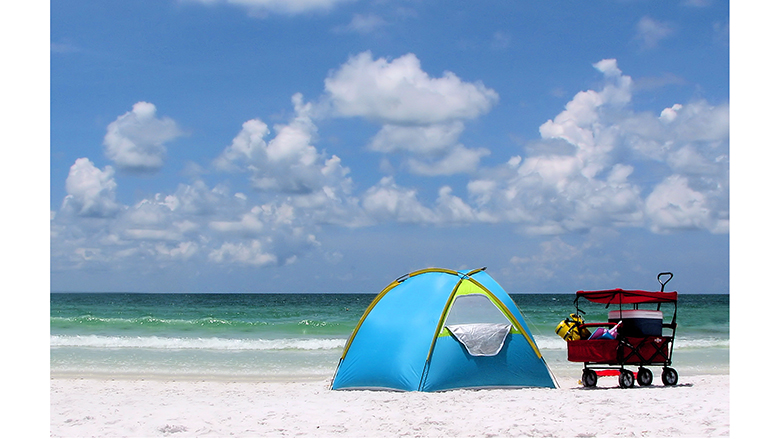 pop-up beach tents