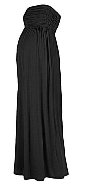 beachcoco women's maternity comfortable maxi tube dress, maternity maxi tube dress, best black maternity dress, black maternity dress, maternity maxi dress