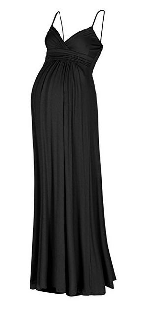 Beachcoco Women's Maternity Sweetheart Party Maxi Dress, best black maternity dress, black maternity dress, best maternity maxi dress, maternity maxi dress, best beach maternity dress, beach maternity dress, maternity strappy dress, best maternity strappy dress