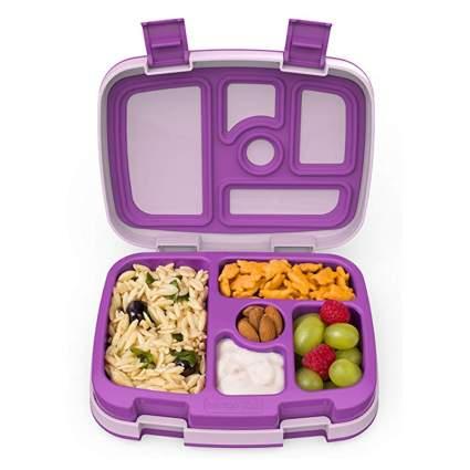 purple kids leakproof bento lunch box