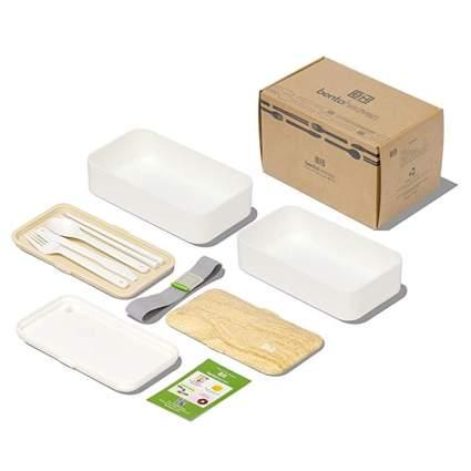 white leakproof bento box