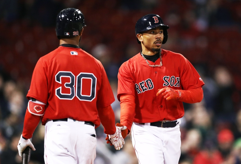 draftkings, picks, mookie betts, chris young, red sox, stacks