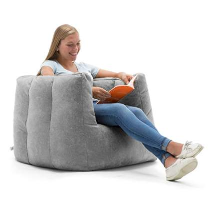 gray cube bean bag chair