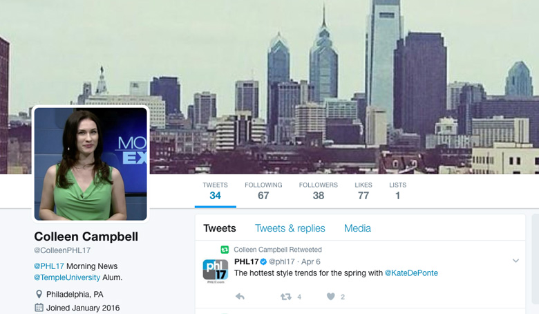 Colleen Campbell Twitter page