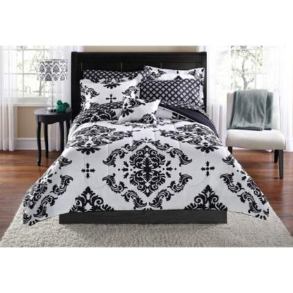 cute dorm bedding, damask bedding