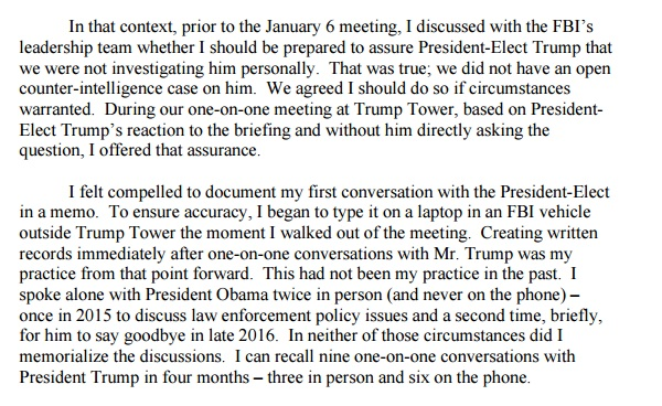 james comey testimony, James comey opening Statement, James Comey Trump