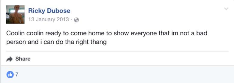 Ricky Dubose Facebook page