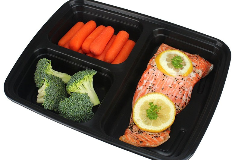 Freshware 15-Pack 3 Compartment Bento Lunch Boxes
