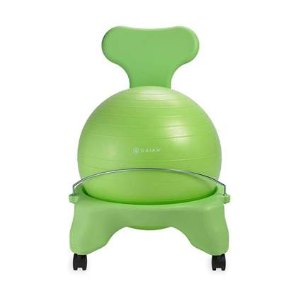 green balance ball chair