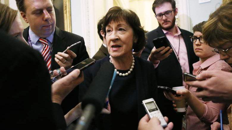 Susan Collins congress, Susan Collins press conference, Susan Collins donald trump