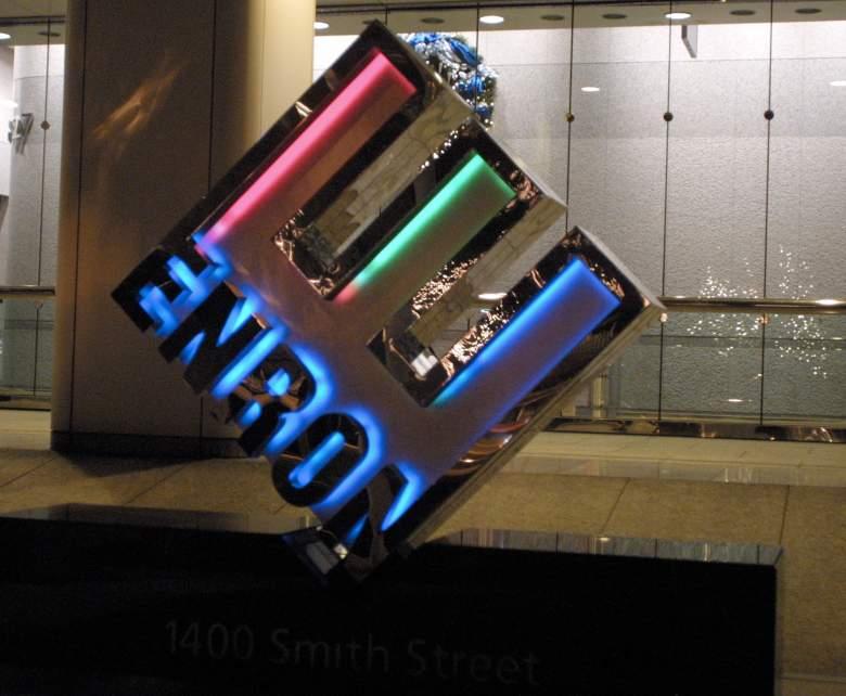 Enron logo, Enron headquarters, Enron corporate headquarters