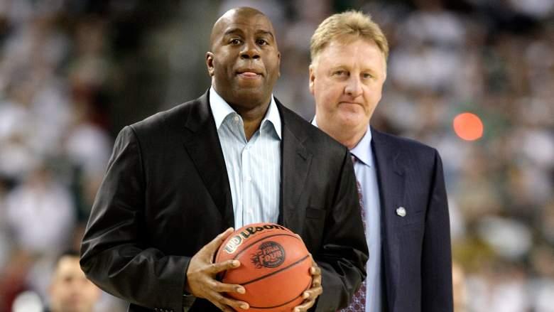 Larry Bird Stats, Magic Johnson Stats, Bird vs. Magic, Head-to-Head Reocrd, Rings, Championships, Titles, Playoff Stats, MVPs