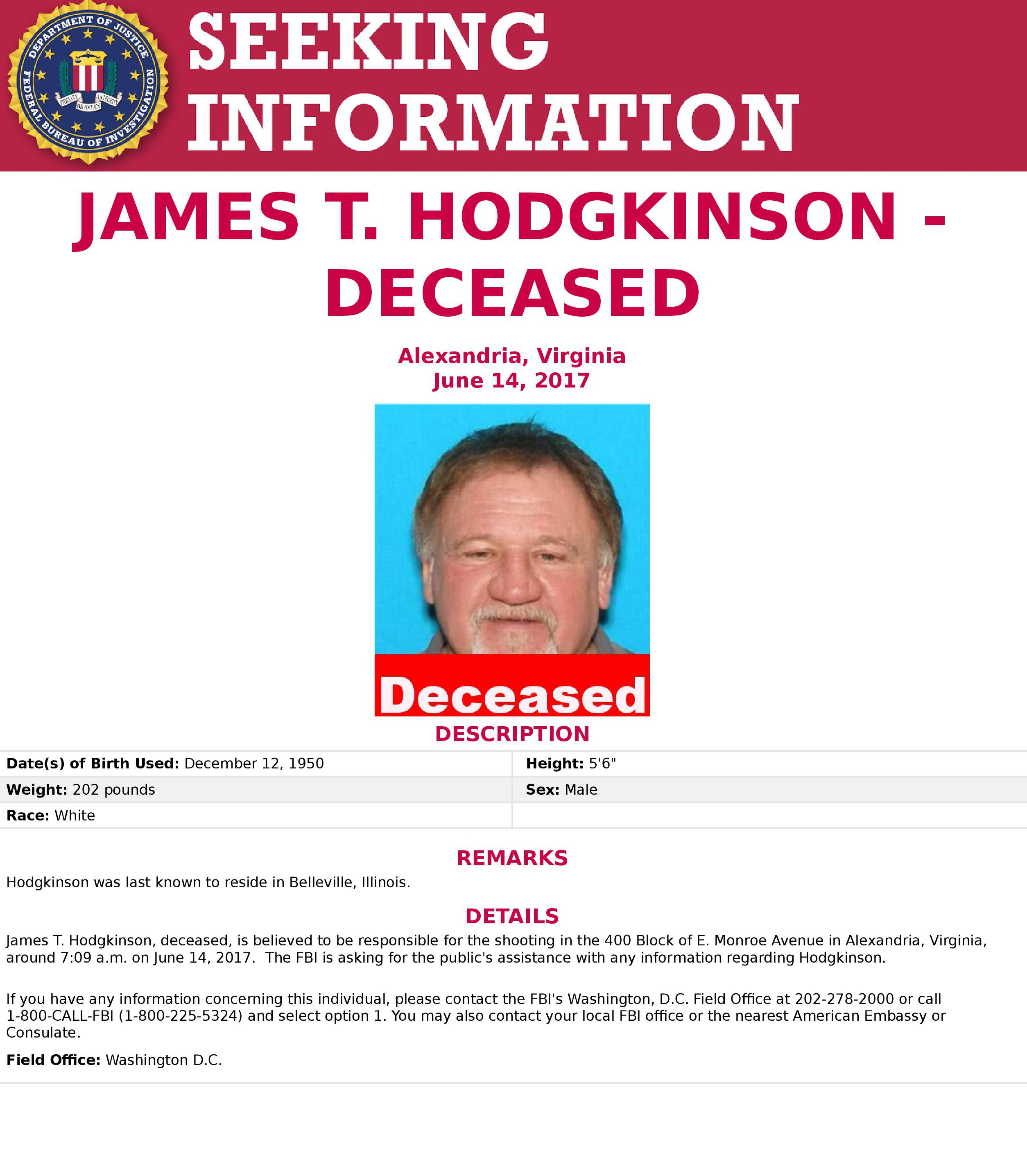 james hodgkinson fbi