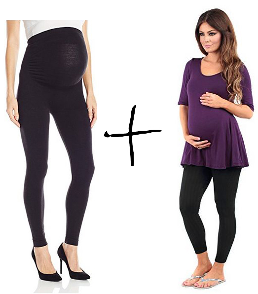 leading lady maternity leggings, rags & couture maternity tunic, leggings and tunic maternity outfit, cute maternity outfits, best maternity style, comfortable maternity style, affordable maternity style