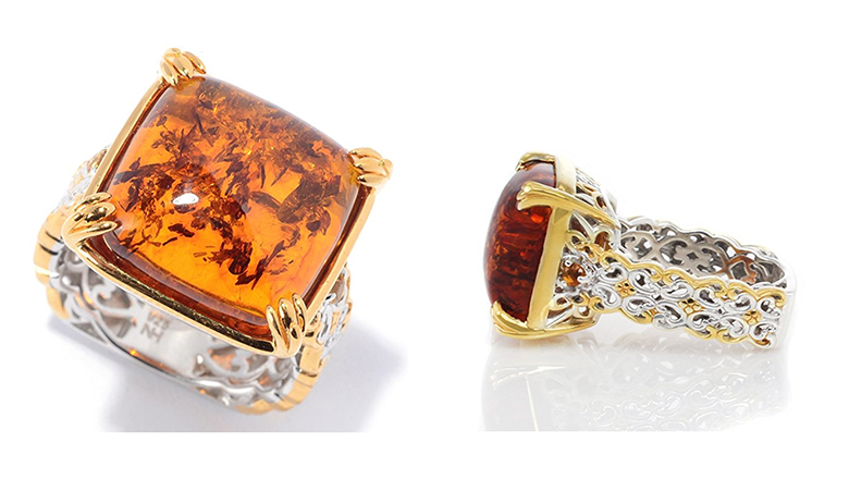 Amber, amber jewelry, amber ring, Baltic amber, cocktail rings