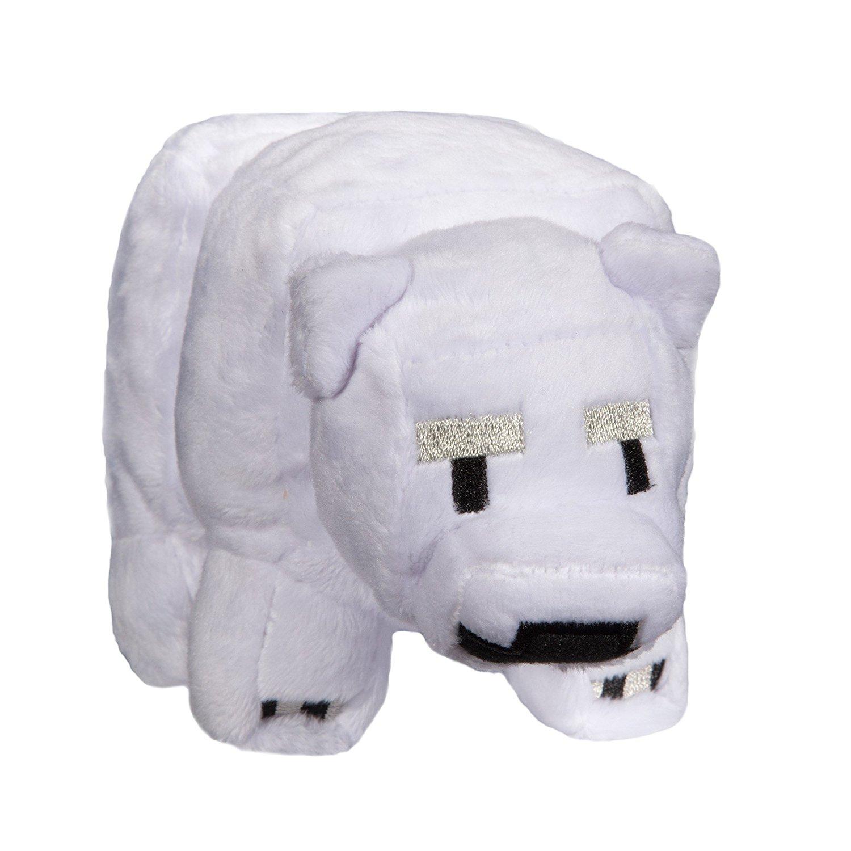 Minecraft baby polar bear plush, minecraft baby polar bear, minecraft plush